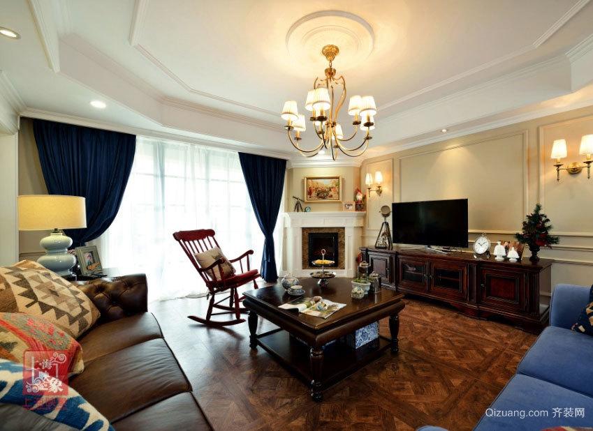 150平米美式混搭休闲浪漫居室装修效果图