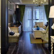 两室一厅客厅侧面图
