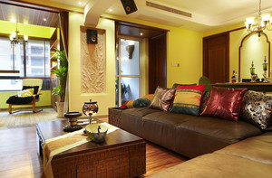 大气精致的橙色东南亚风格家居装修效果图鉴赏
