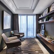 室内小书房置物架设计