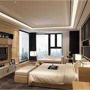 家装原木色卧室图