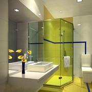 卫生间绿色创意玻璃隔断