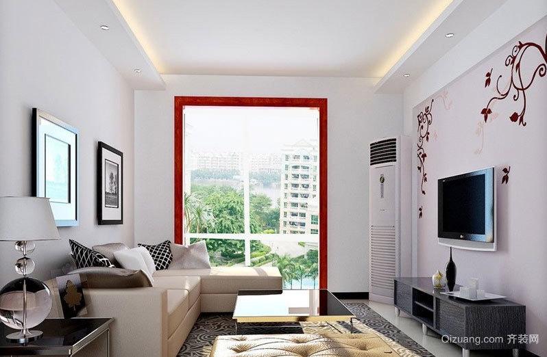 90平米简约风格的沉稳庄重的客厅装修效果图