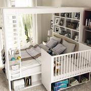 白色小卧室床展示