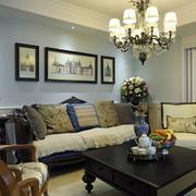 复式楼客厅法式沙发图