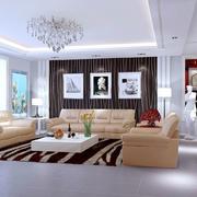 客厅沙发黑白背景墙展示