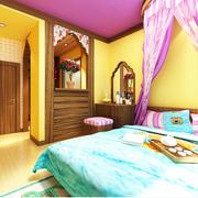 家居炫丽的卧室展示