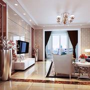 白色客厅石膏线