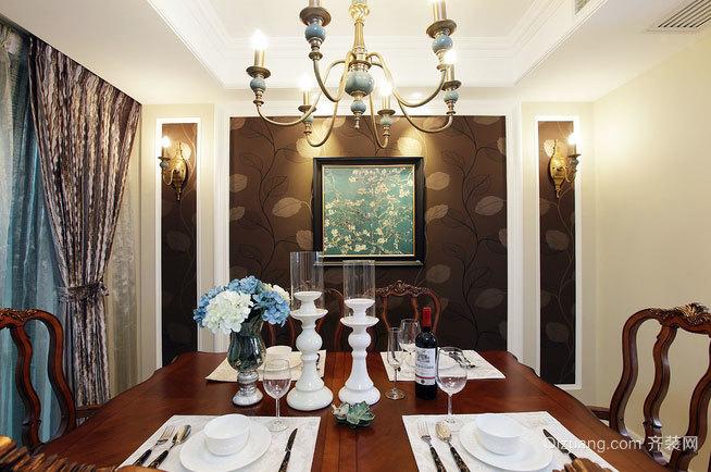 欧美混搭度假风情小复式楼客餐厅装修效果图