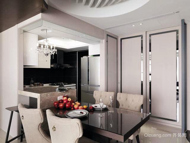 90平米欧式公寓交换空间装修效果图