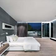 复式楼卧室灰色背景墙