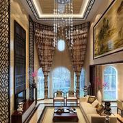 别墅客厅大装饰画