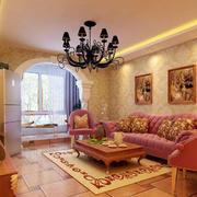 温馨客厅石膏线
