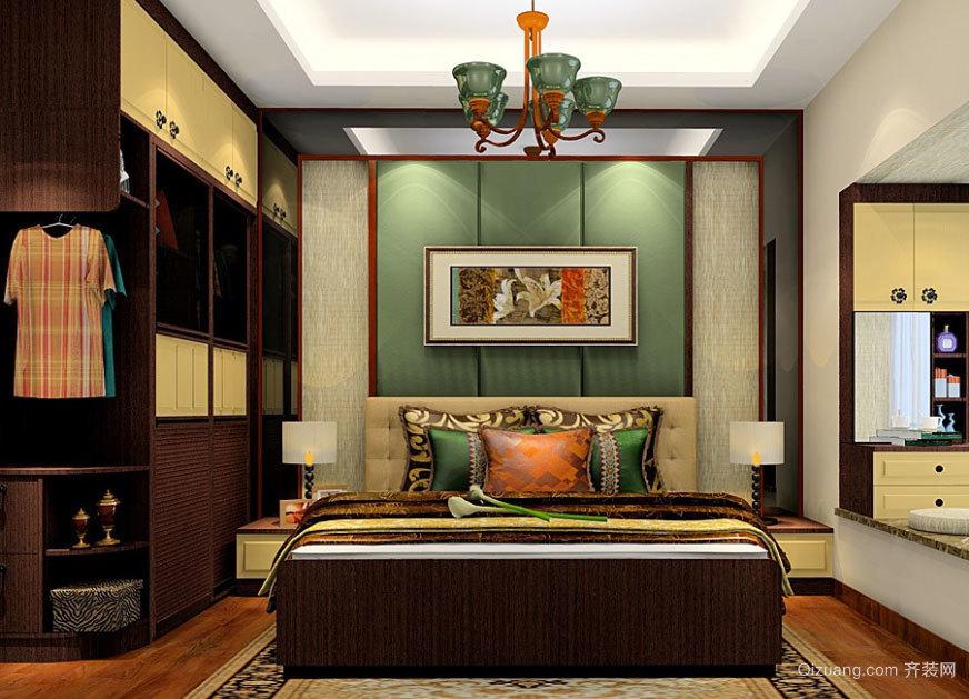 复式楼美式风格整体衣柜卧室装修效果图