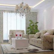 田园风格客厅窗帘