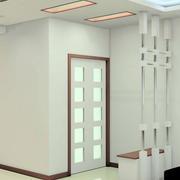 白色客厅玄关设计