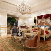 别墅卧室水晶吊灯