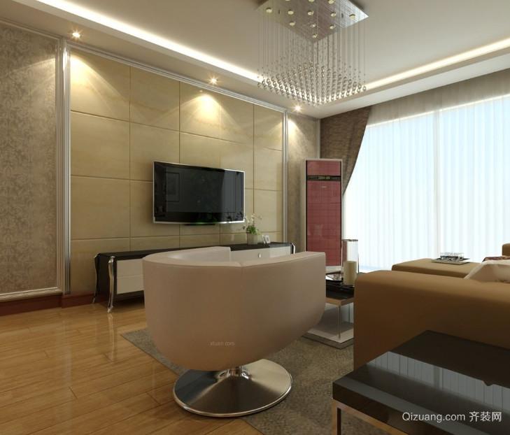 120平米时尚混搭风格客厅电视背景墙
