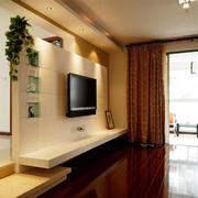 客厅电视背景墙隔断