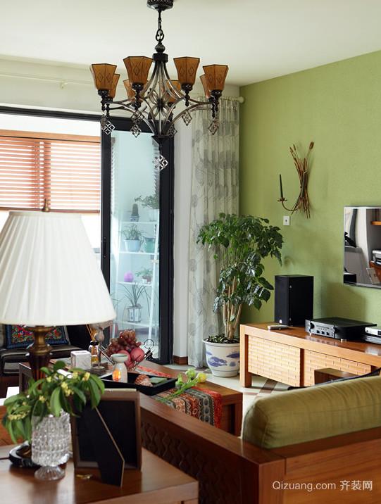鹅黄浅绿东南亚风格家居装修效果图鉴赏