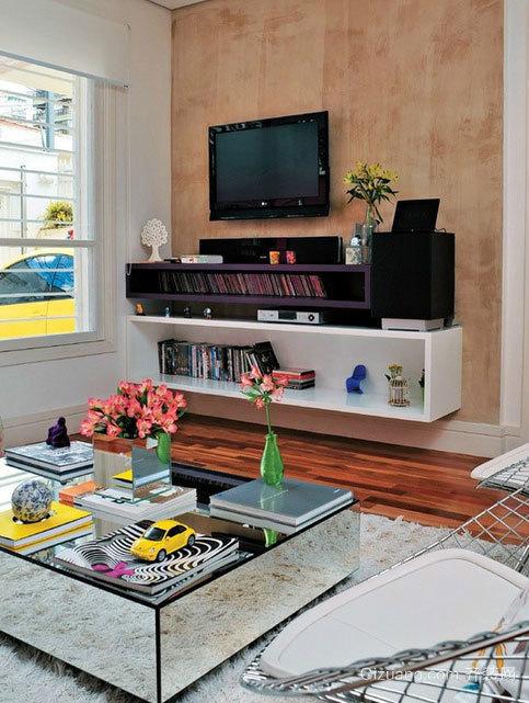 2015大户型现代都市客厅电视柜装修效果图鉴赏