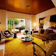家居温暖的客厅展示