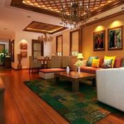家居中式客厅欣赏