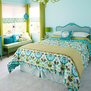 家居绿色卧室展示