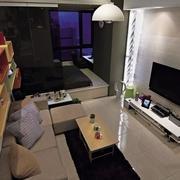 小户型公寓客厅俯视图