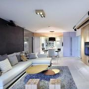 公寓客厅温暖地毯