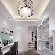 两室两厅书房白色书架