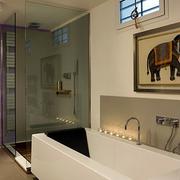家居卫生间玻璃隔断图
