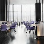 紫色优雅的餐厅装饰