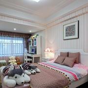 现代卧室条纹背景