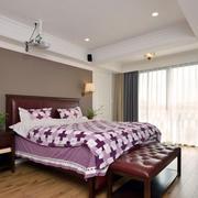 复式楼大卧室紫色图片