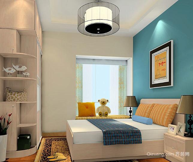 30平米欧式田园小清新卧室装修效果图