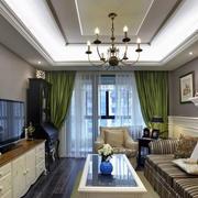 两室一厅客厅窗帘欣赏