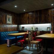 餐厅卡座沙发展示