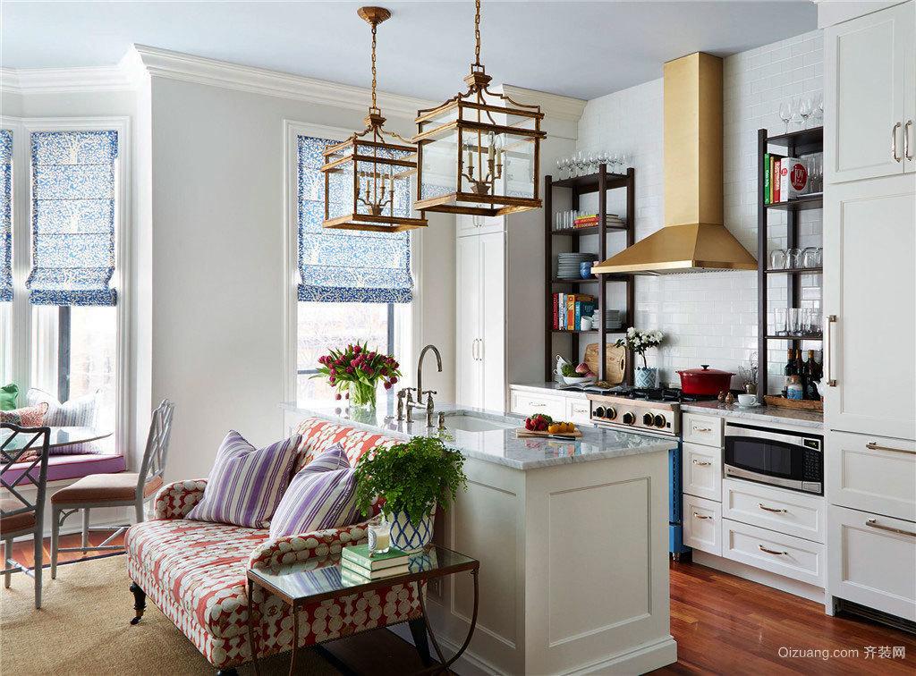 温馨明亮欧式公寓交换空间装修效果图
