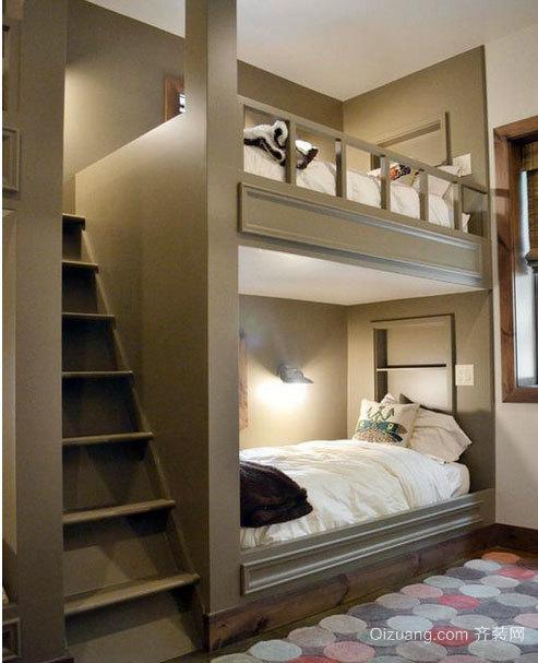 2015美观的都市儿童房高低双层床装修效果图