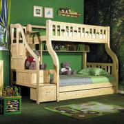 收纳能力强的实木双层床