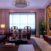 中式客厅简约窗帘