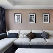 客厅沙发装饰画展示