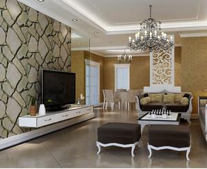 二居室都市大方的客厅背景墙装修效果图大全