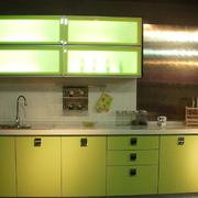 厨房绿色橱柜图