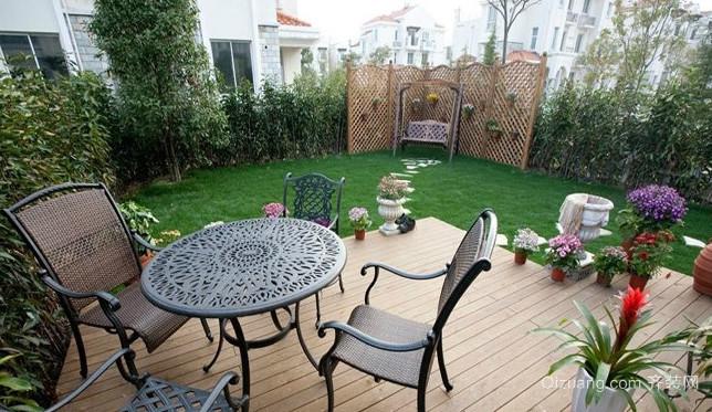 50平米清新绿色露台花园设计装修效果图