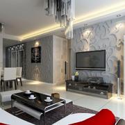 公寓创意新颖电视背景墙