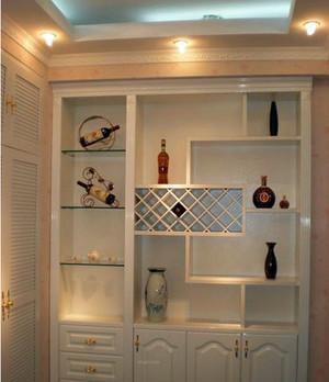 白色现代家居酒柜