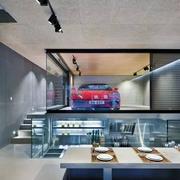 别墅现代化的车库