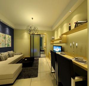 公寓客厅简约吊顶